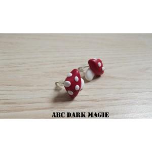 Boucles d'oreilles champignons rouges - 5.50€