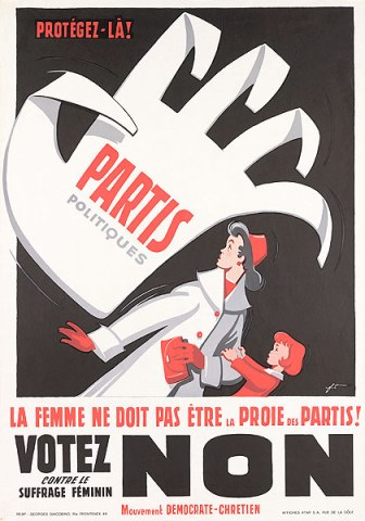 affiche vote femme