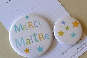 série de 2 badges  6€