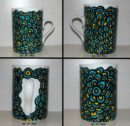 Mug Hypno'flowers blue 12€